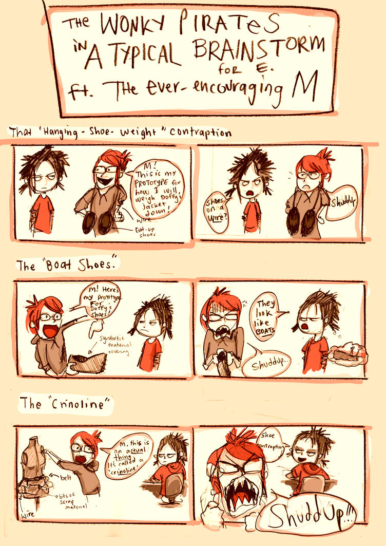 The Wonky Pirates : A Typical Brainstorm for E by Veleven