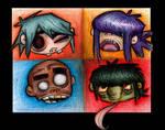 Gorillaz- Heads in Pencil