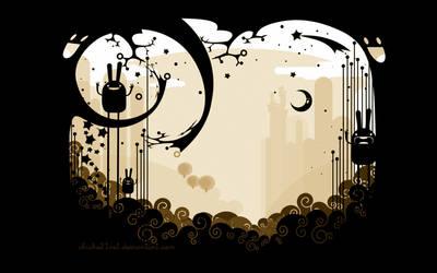 Night Rabbits by chicho21net