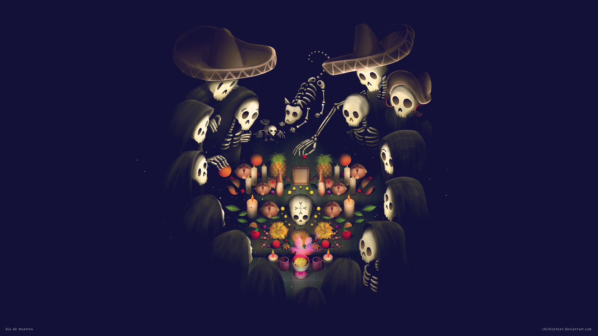 Dia de Muertos by chicho21net on DeviantArt