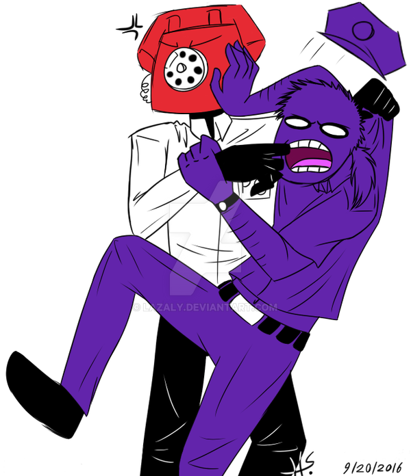 Phone Guy And Vincent Fighting By Lazaly On Deviantart