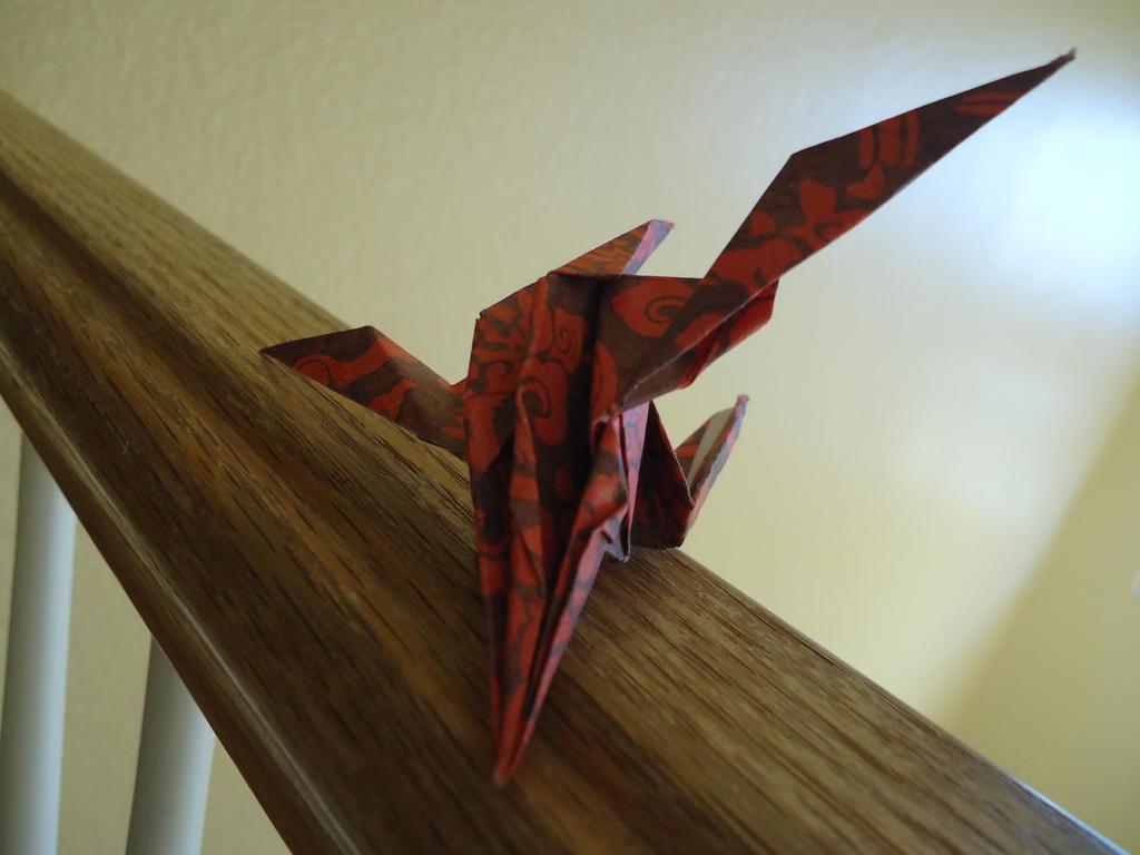 origami spaceship pt 1 front by 1000voltfox on deviantart