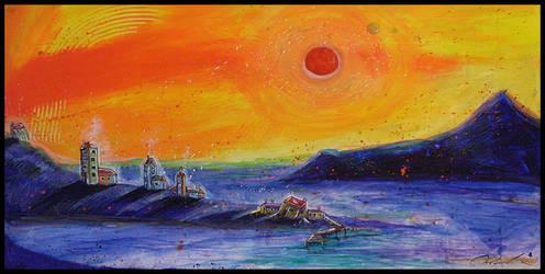 Harbor Sun by EraserQueenStudio