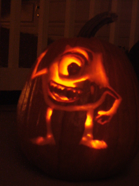 Mike wazowski by k5pnon on deviantart for Mike wazowski pumpkin template