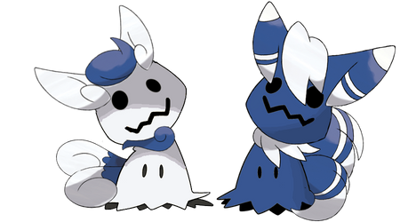 Meowstic-Mimikyu-Couple by Chadone