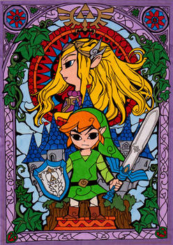 Zelda Stained Glass Colored
