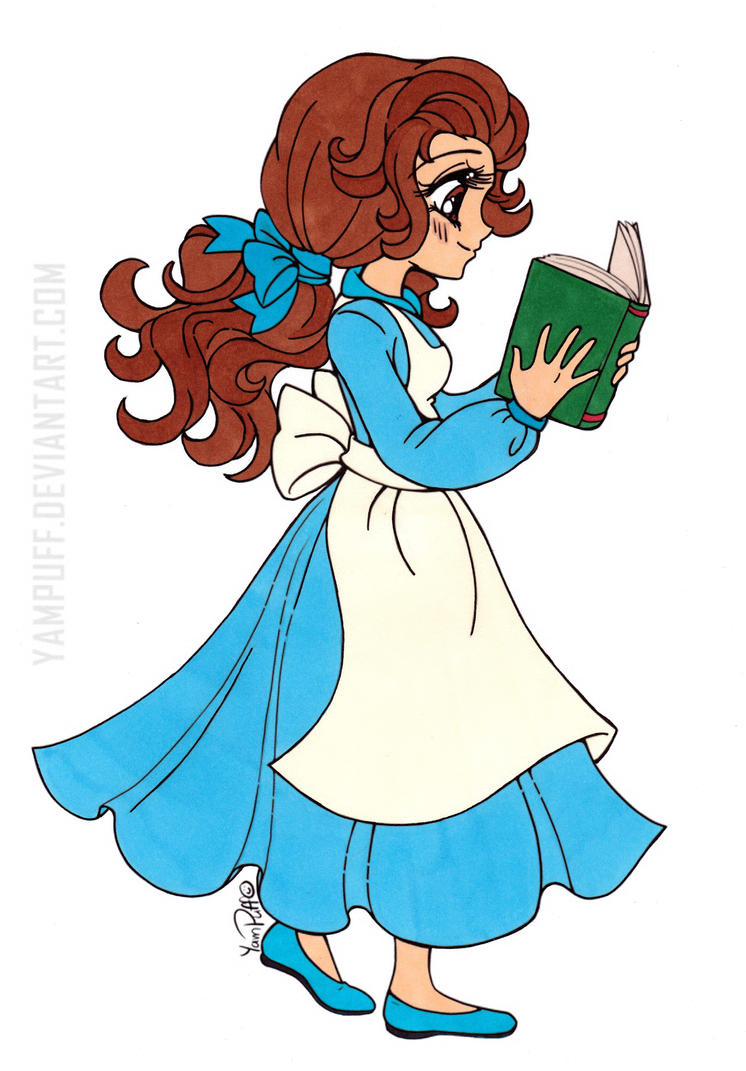Disney's Belle Colored by Maiko-Girl