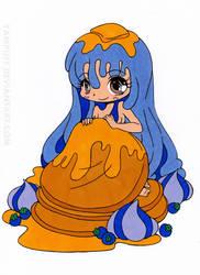 Pancake Girl Chibi Colored by Maiko-Girl
