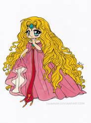 Princess Emeraude Chibi Colored by Maiko-Girl