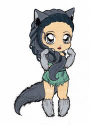 Wolf Chibi Colored by Maiko-Girl