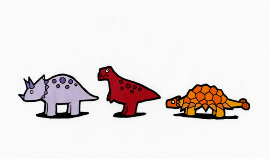 Small Spotted Dinosaurs Part 1 By Maiko Girl