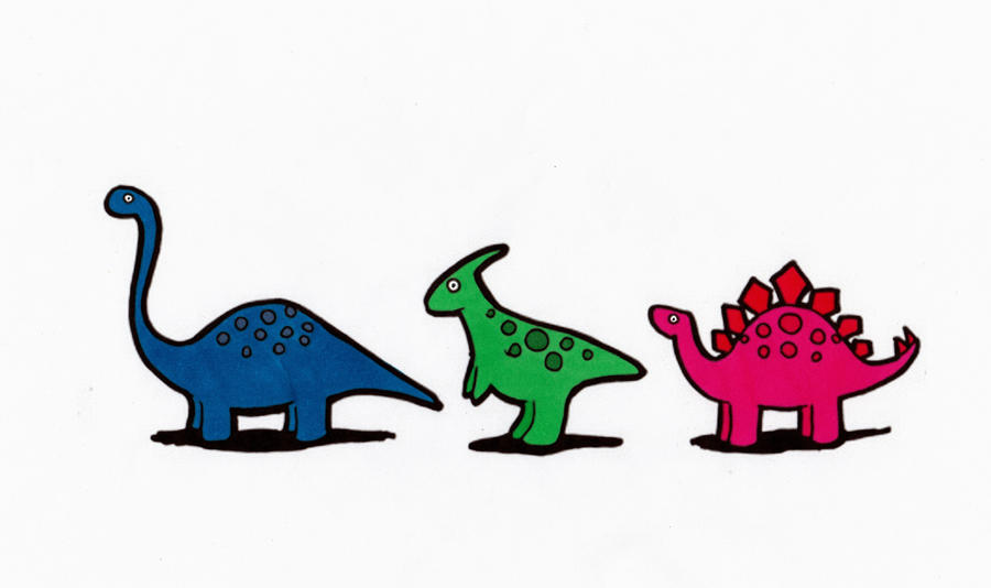 Small Spotted Dinosaurs Part 2 By Maiko Girl