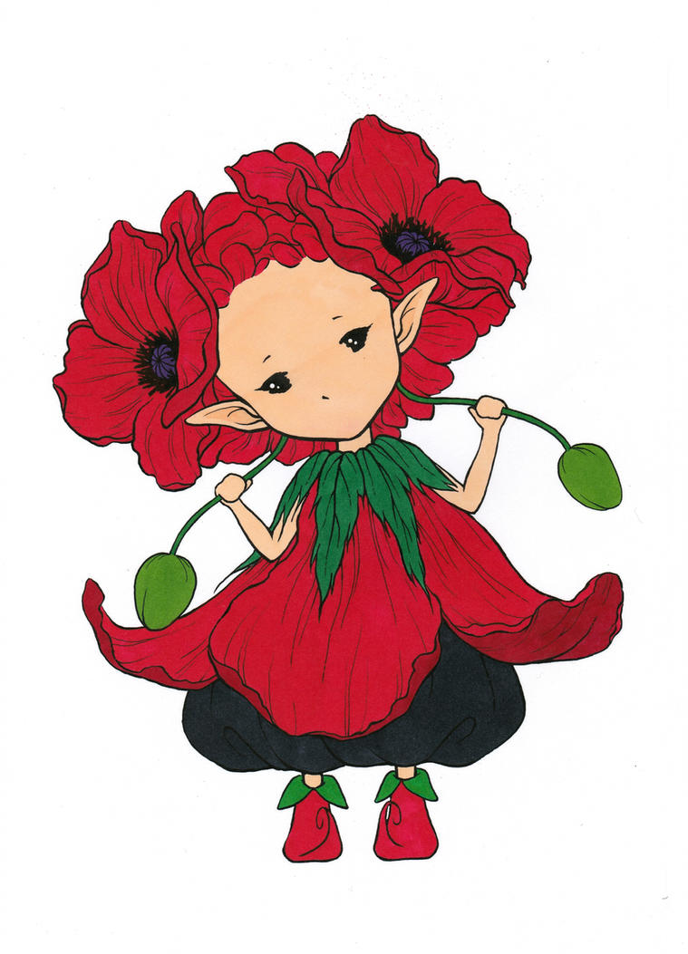 Poppy Sprite Colored By Maiko Girl On Deviantart