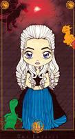 Game of Thrones Tarot: Daenerys Targaryen Colored by Maiko-Girl