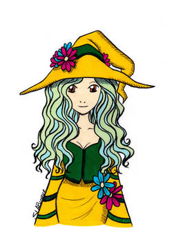 Flower Witch Colored