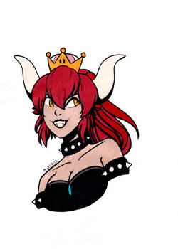 Bowsette Colored