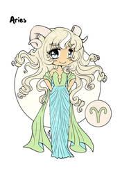 Zodiac Aries Colored
