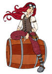 62. Steampunk Guy - Colored by Maiko-Girl