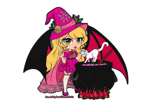 Cauldron Witch Chibi Colored