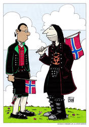 Happy 17th May Norway - Colored