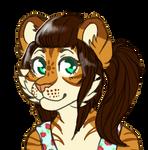 Pretty tiger - free sketch