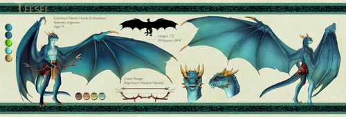Teesei Character Sheet by Targo-Gryphon