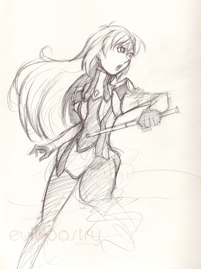 Elly sketch by gts