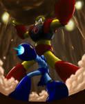 Rockman VS Gutsman colored