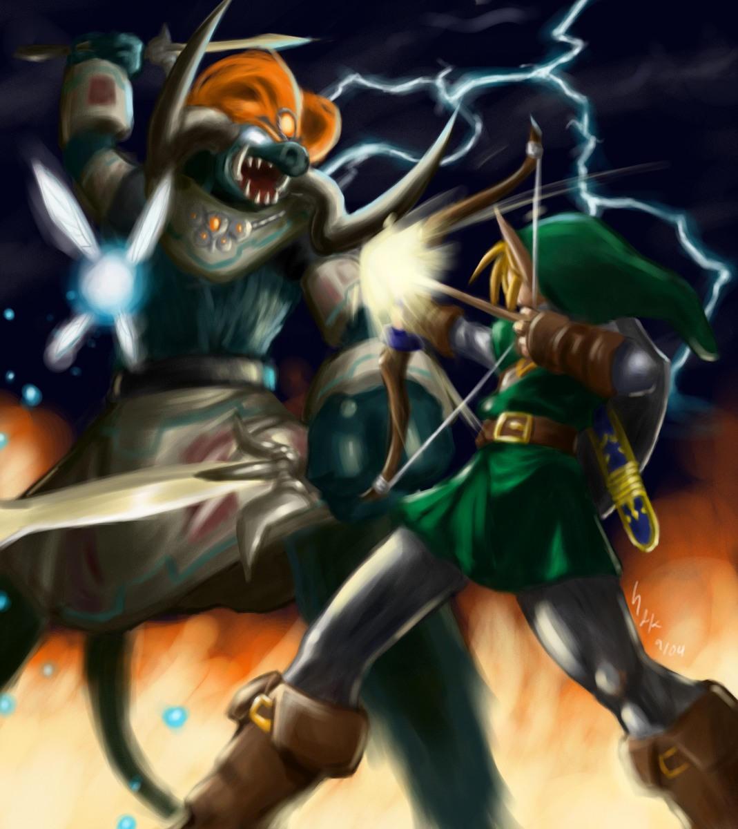Link VS  Ganon final by gts