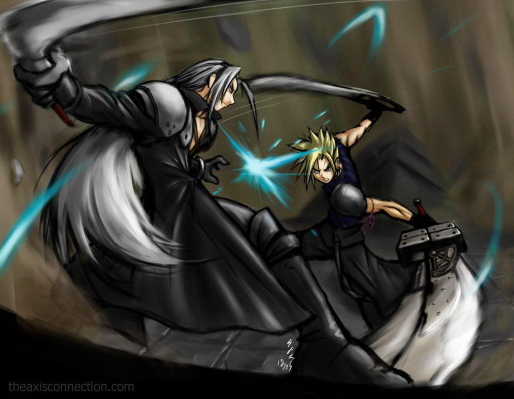 Cloud VS Sephiroth Final by gts