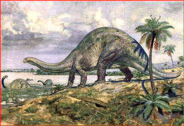 Brontosaurio Apatosaurio de Z. Burian