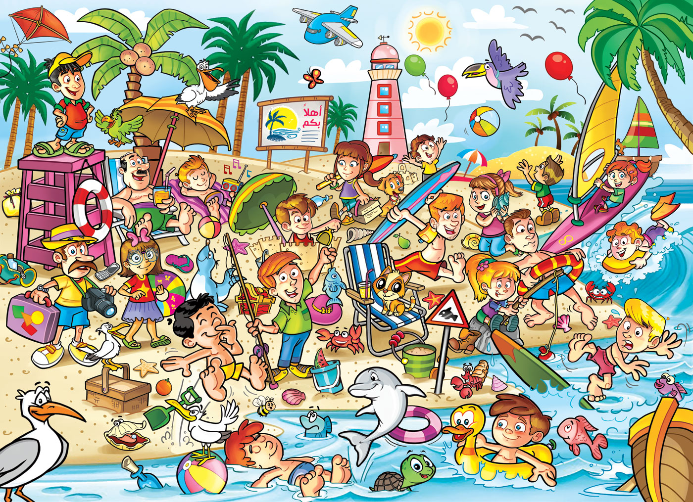 busy beach description My school descriptive writing assignment on a busy crowded market.