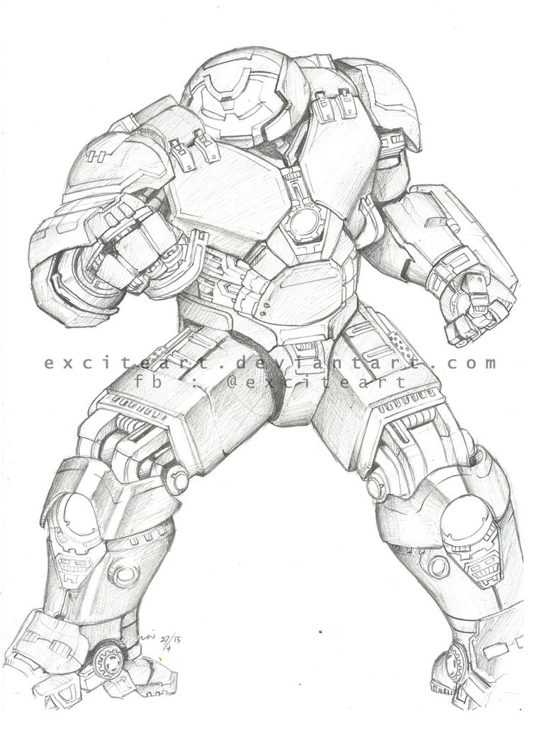 ironman hulk buster coloring pages - photo#25