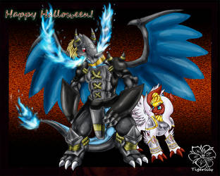 Happy Halloween! Digivolve SHINKA! by tigersylveon