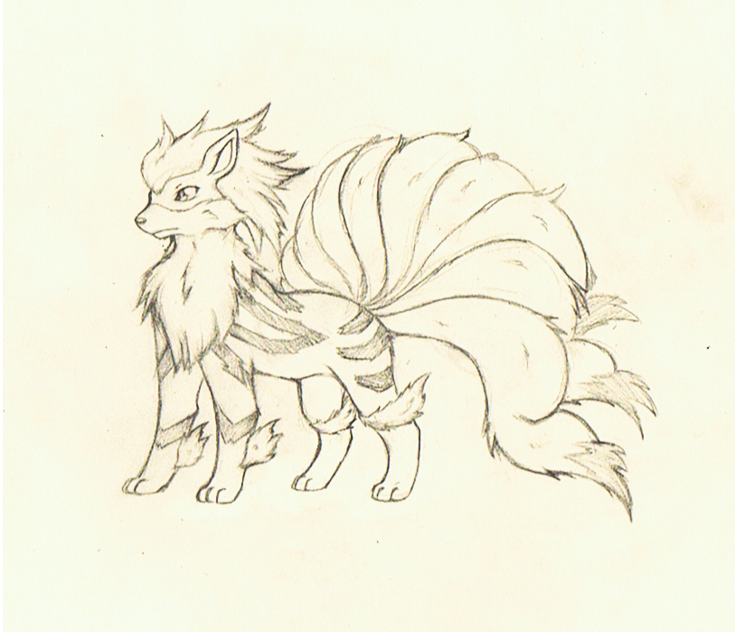Arcaninetails Fusion Sketch By Tigersylveon