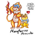 Monferno and Pascale :AT: by tigersylveon