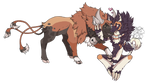 Tanith and Tonka pokemon forms by tigersylveon