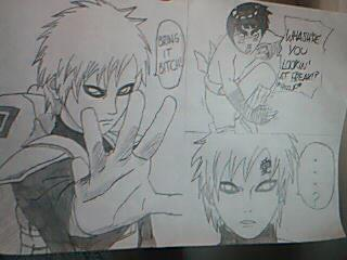 Gaara vs Rock Lee's drunken fist... by CarlaChanxD