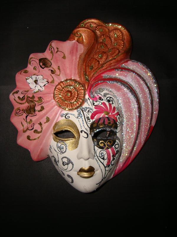 Stock: Pink Geisha Mask