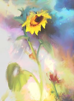''Dancing sunflower'' by Jakub Mojrzesz sample