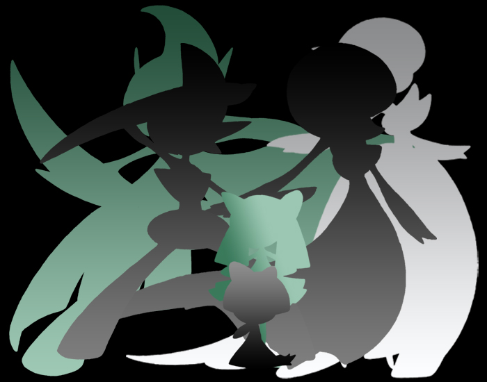 Shiny Mega Gardevoir Wallpaper: Mega Gallade And Gardevoir By Kurososhi13 On DeviantArt