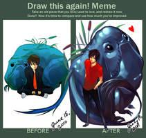 Draw This Again Meme by littlewinterheart