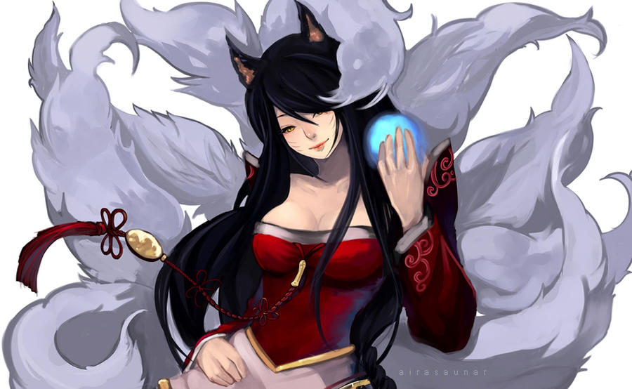 Ahri by thelittlefirefly