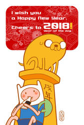 The New Year's card in 2018 by AMAKOMA-YA