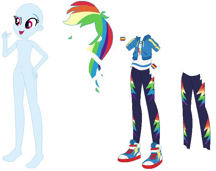 Mlp equestria girls base rainbow dash