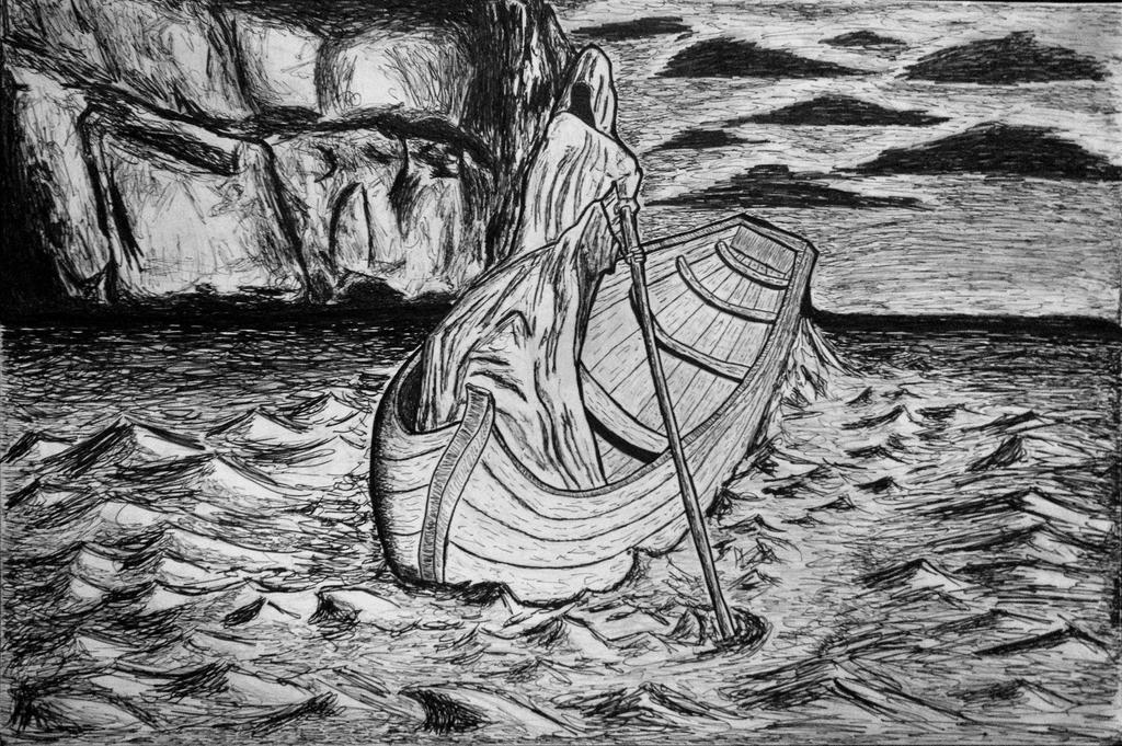 Charon Crossing The Styx River By Tylerfernandes On Deviantart