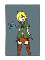 Cerulean cosplays as Linkle