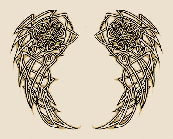 Celtic Wing Tattoo Designs