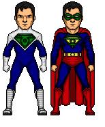 Green Lantern Superman by Omniferis