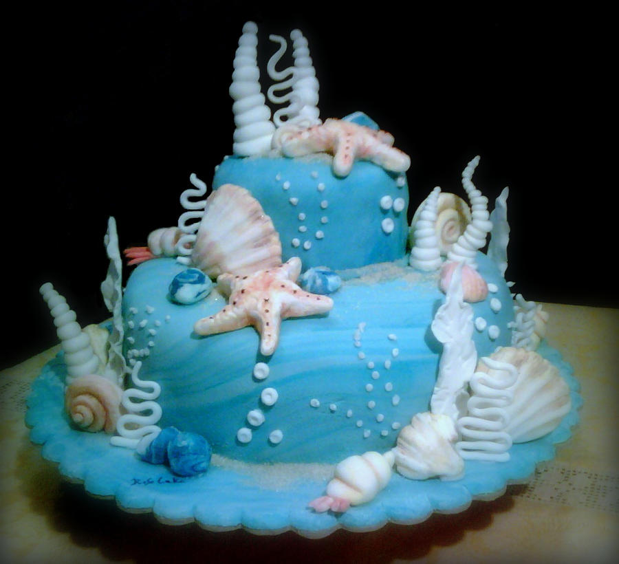 How To Make The Sea On Cake